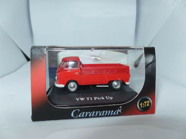 Cararama 1/72 Scale Volkswagon VW Transporter T1 Pick up Pickup Red